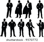 silhouette of elegant young...   Shutterstock .eps vector #9570772