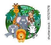 cute safari cartoon   Shutterstock . vector #95707978