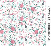 seamless vintage floral pattern | Shutterstock .eps vector #95721274