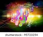 background of colorful f waves... | Shutterstock . vector #95723254