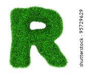 letter r  made of grass... | Shutterstock . vector #95729629