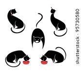 Big Set Of The Black Cats....