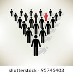 working together team concept.... | Shutterstock . vector #95745403