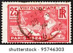 france   circa 1924  a stamp... | Shutterstock . vector #95746303
