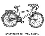 scribble series   bicycle | Shutterstock .eps vector #95758843