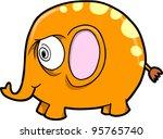 Crazy Insane Elephant Animal Safari Vector Illustration Art - stock vector