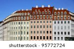 close up colourful buildings at ... | Shutterstock . vector #95772724