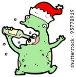 Christmas Frog Cartoon