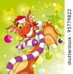 dragon  funny cheerful toothed... | Shutterstock . vector #95779822