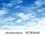 blue sky and cloud background | Shutterstock . vector #95789668
