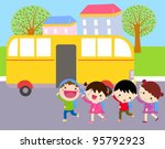 school bus | Shutterstock .eps vector #95792923