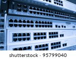 network hub without patch cables | Shutterstock . vector #95799040