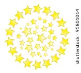 color background with stars....   Shutterstock .eps vector #95801014