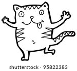 funny cat cartoon | Shutterstock . vector #95822383