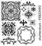moroccan stencil design... | Shutterstock .eps vector #95823490