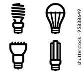 vector icon set of energy... | Shutterstock .eps vector #95838649