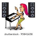 rock chick | Shutterstock .eps vector #95841658