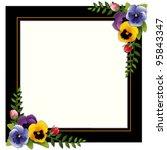 flower frame  garden pansies ... | Shutterstock .eps vector #95843347
