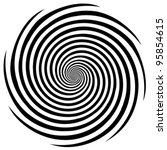hypnosis spiral  concept for... | Shutterstock .eps vector #95854615