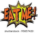 eat me   Shutterstock .eps vector #95857420