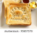 slice of toast with good... | Shutterstock . vector #95857570