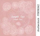romantic vector background with ... | Shutterstock .eps vector #95858362