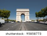 a view down the center of... | Shutterstock . vector #95858773
