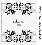 gray invitation card with place ... | Shutterstock .eps vector #95880661