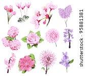 Pink Spring Flower Set