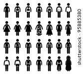 people woman female fashion... | Shutterstock .eps vector #95885380