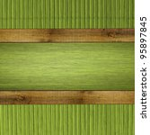 wood board with bamboo frame | Shutterstock . vector #95897845