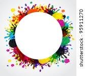 vector splash abstract... | Shutterstock .eps vector #95911270