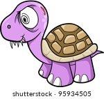 Crazy Insane Turtle Animal Wildlife Vector Illustration Art - stock vector