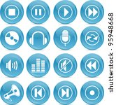 audio icons | Shutterstock .eps vector #95948668