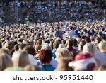 large crowd of people watching... | Shutterstock . vector #95951440