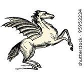 pegasus   vintage engraved... | Shutterstock .eps vector #95953234