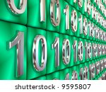binary code. 3d | Shutterstock . vector #9595807