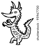 cartoon little dragon | Shutterstock . vector #95967700