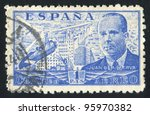spain   circa 1939  stamp... | Shutterstock . vector #95970382