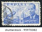 spain   circa 1939  stamp... | Shutterstock . vector #95970382