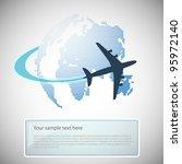 Globe Design With Airplane