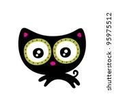 Stock vector cute little kitten 95975512