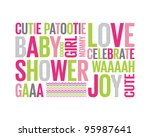 a tagcloud with different words ... | Shutterstock .eps vector #95987641