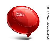 red shiny gloss banner | Shutterstock .eps vector #95994103