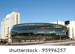 OTTAWA, CANADA - APRIL 13: The newly constructed Ottawa Convention Centre opened to replace the Ottawa Congress Centre, April 13, 2011 adjacent to the Rideau Centre in Ottawa, Ontario, Canada. - stock photo