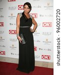 Small photo of Daniella Westbrook arriving for the Pia Michi Prom wear fashion show at the Millenium Hotel, London. 15/02/2012 Picture by: Alexandra Glen / Featureflash