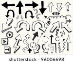 hand draw arrow icon | Shutterstock .eps vector #96006698