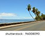 Palms Near The Road  Maui ...