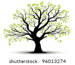 vector set   decorative tree... | Shutterstock .eps vector #96013274
