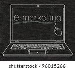 e marketing written on computer ... | Shutterstock . vector #96015266